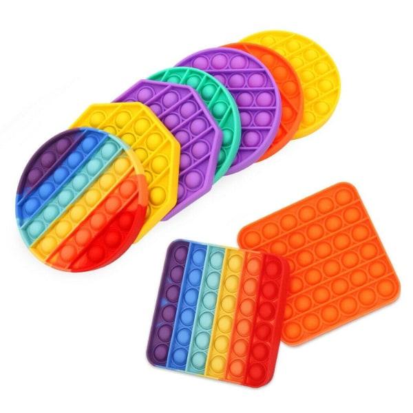 Pop It Fidget Toy - Flera Färger & Modeller! - Orange Rund - Orange