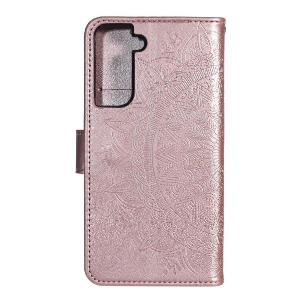 Samsung Galaxy S21 - Mandala Plånboksfodral - Roséguld Roséguld