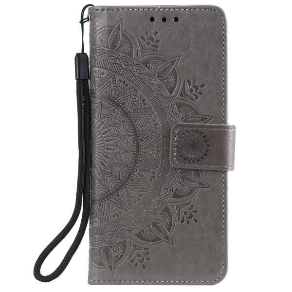 Samsung Galaxy S20 FE - Mandala Fodral - Grå Grey Grå