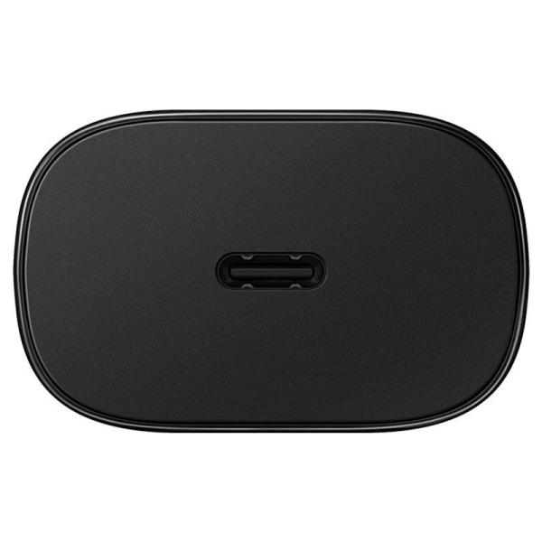 Samsung Original 25W 3A USB-C Laddare EP-TA800XBE - Svart Black Svart