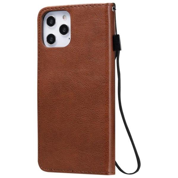iPhone 12 Pro Max - Solid Plånboksfodral - Brun Brown Brun