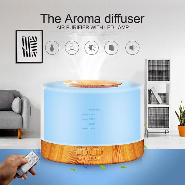 SALG!! Aroma diffuser med fjernbetjening White
