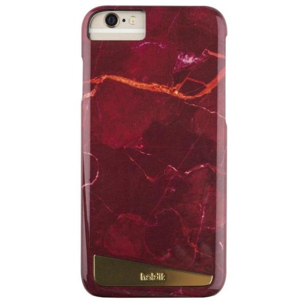 Holdit Magnetskal iPhone 6/6s/7/8/SE Röd Marmor