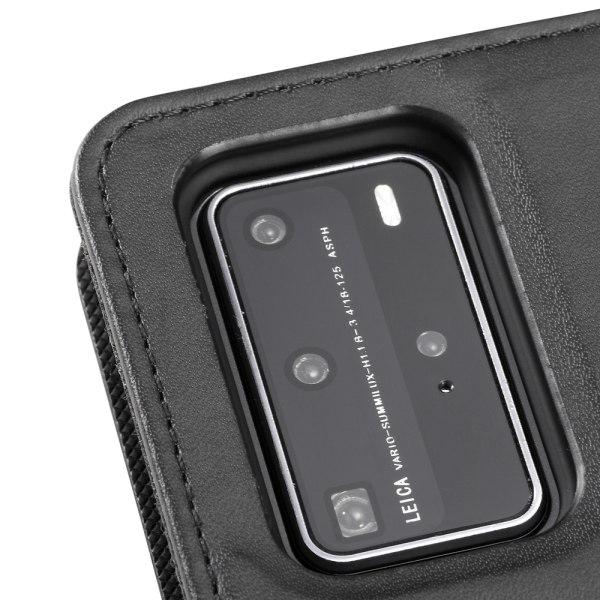 Holdit Plånboksfodral Magnet Huawei P40 Pro Svart