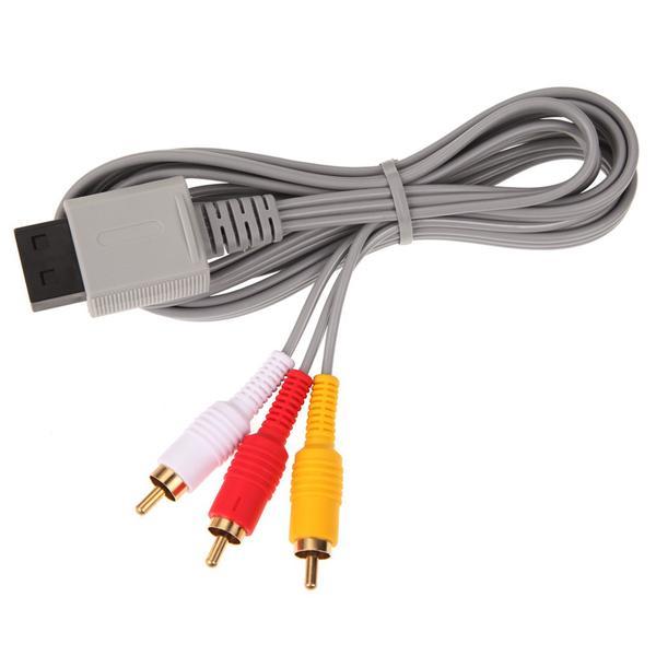 A/V Kompositkabel kompatibel med Nintendo Wii Guldpläterad
