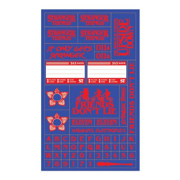 Anteckningsbok - Stranger Things 1 - ser ut som en VHS Multicolor