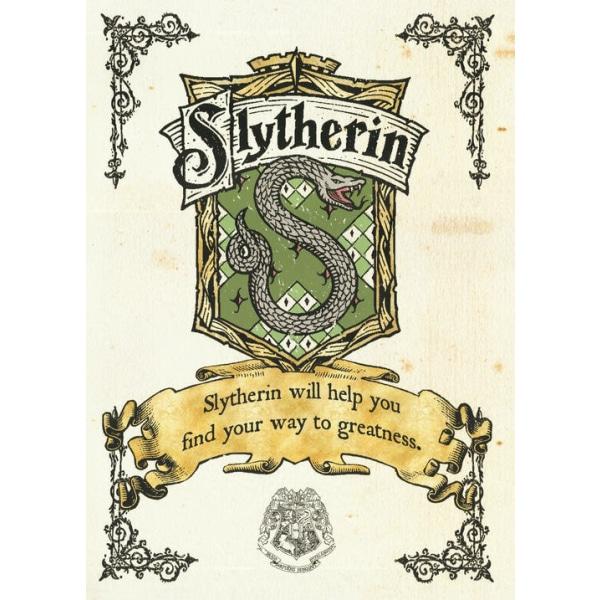 Pergament - Harry Potter - Slytherin Crest Multicolor