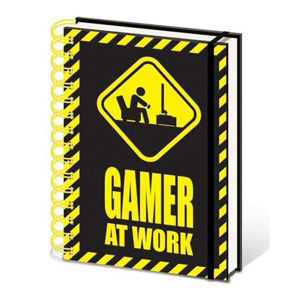 Muistikirja - Pelaaja työssä (varoitusmerkki) Multicolor