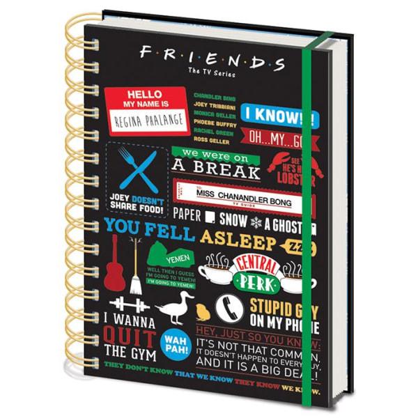 Anteckningsbok - Friends (Infographic) Multicolor
