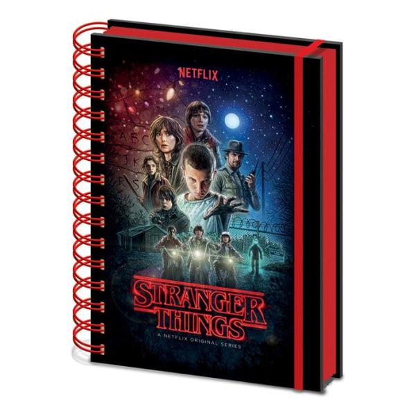 Muistikirja - Stranger Things (yksi arkki) metallinen kansi Multicolor