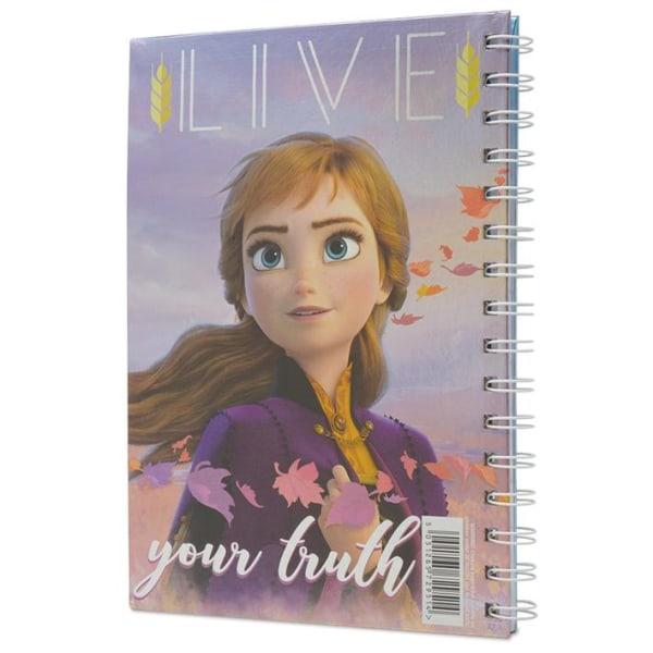 Muistikirja - Frozen 2 - Sisters - Metallinen kansi Multicolor