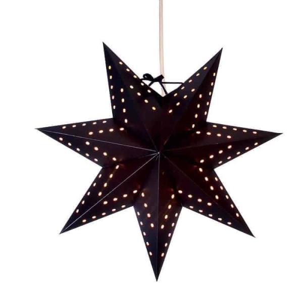 Bobo svart hängande adventsstjärna