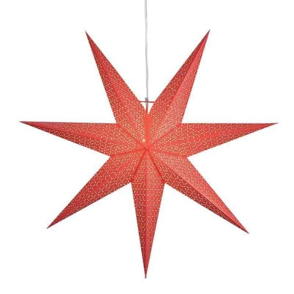 Dot Star 100cm pappersstjärna röd