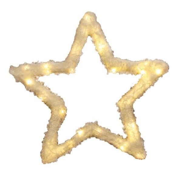 Fluffy stjärna 54 cm 50 LED